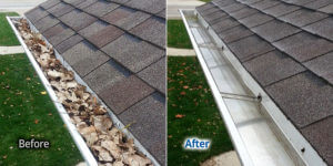 Rochester NY Gutter Cleaning Leaves and Debris Cleanout
