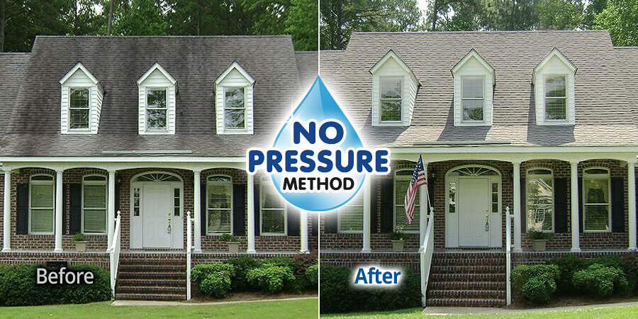 Rochester Ny Soft Wash No Pressure Roof Cleaning Bf Home